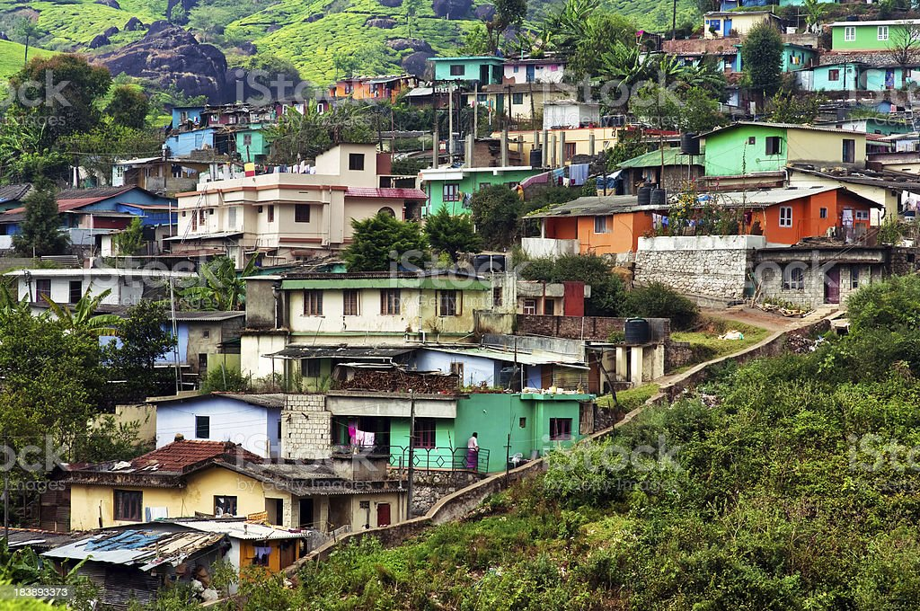 Indian houses on the hills royalty-free stock photo