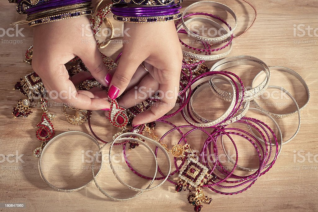 Indian jewelry royalty-free stock photo
