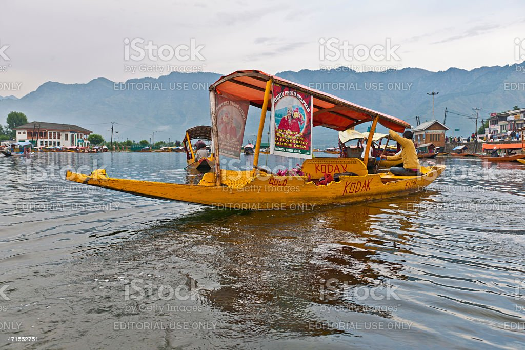 Indian Kodak Boat on Lake Dal Srinagar India royalty-free stock photo