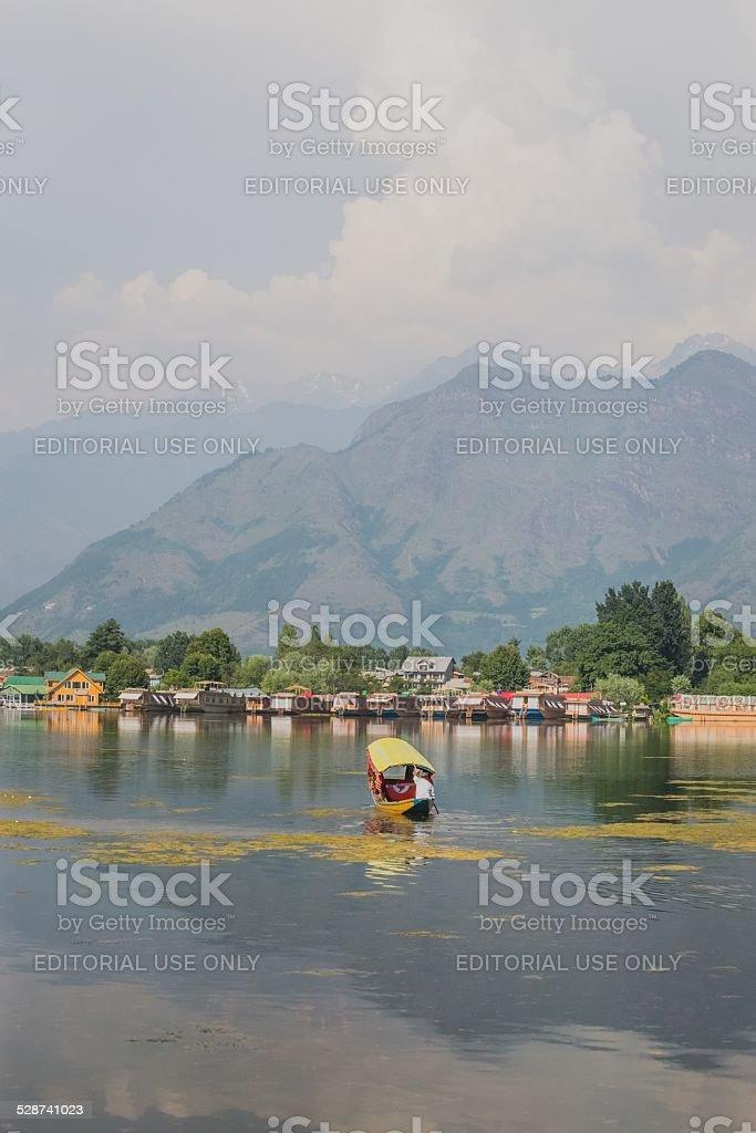 Indian Kodak Boat on Lake Dal Srinagar, India stock photo