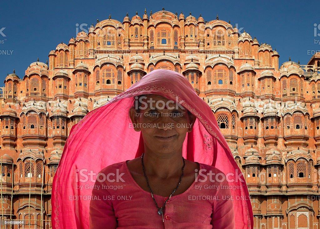 Indian lady - Jaipur - India stock photo