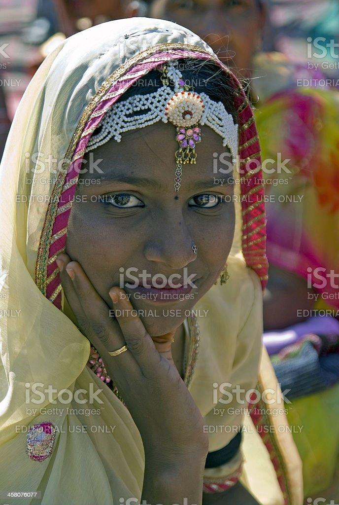 Indian Lady stock photo
