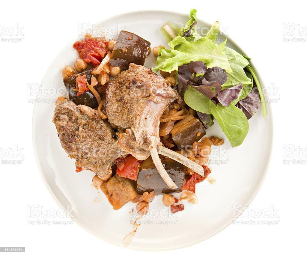 Indian Lamb Meal stock photo