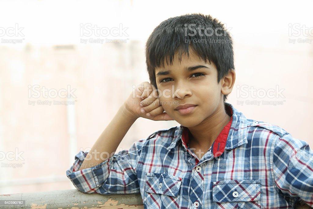 Indian Little Boy stock photo