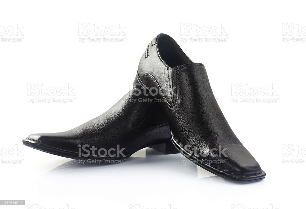 Indian Made Men's Brown Shoes stock photo