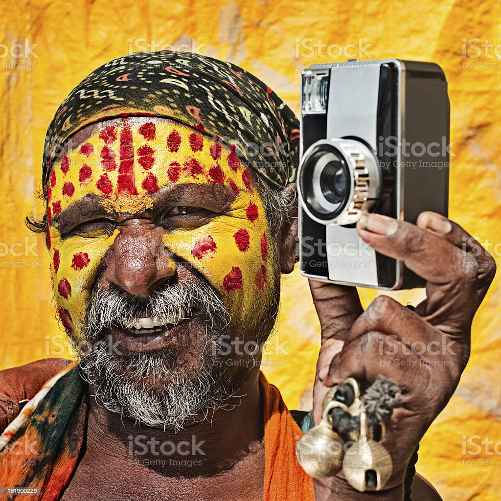 Indian male artists royalty-free stock photo