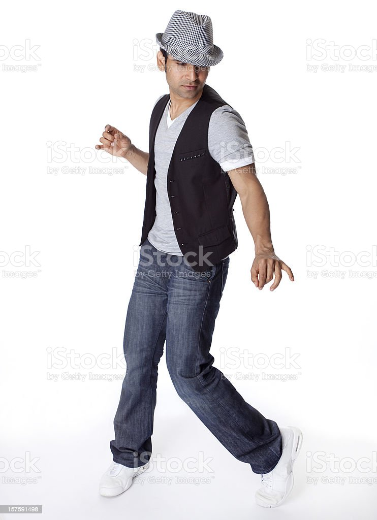 Indian male dancer royalty-free stock photo