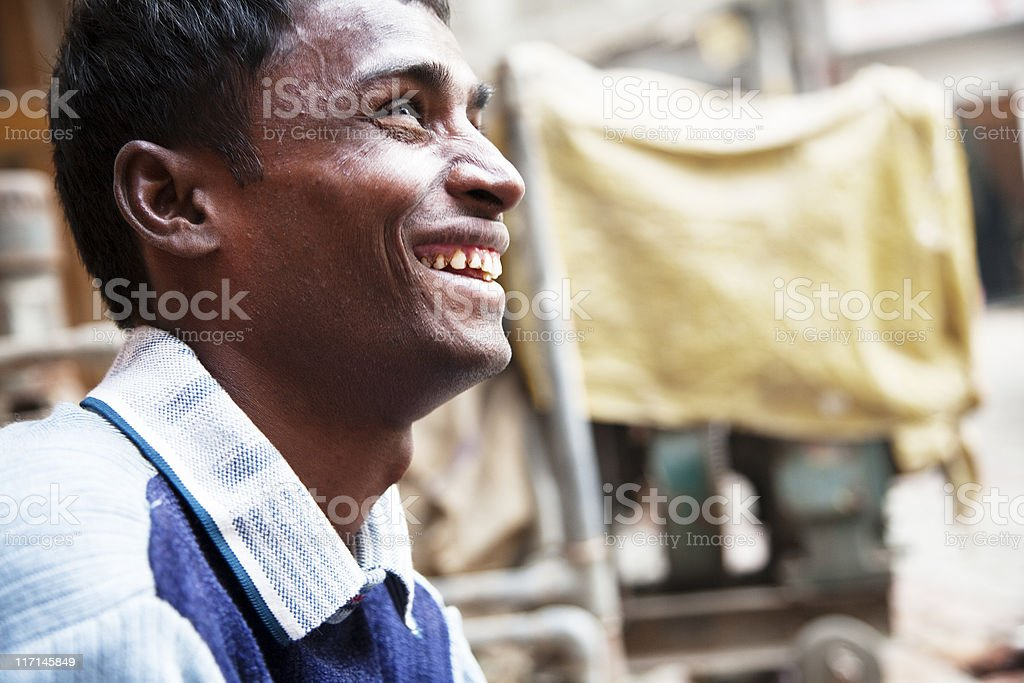 indian man laughing stock photo
