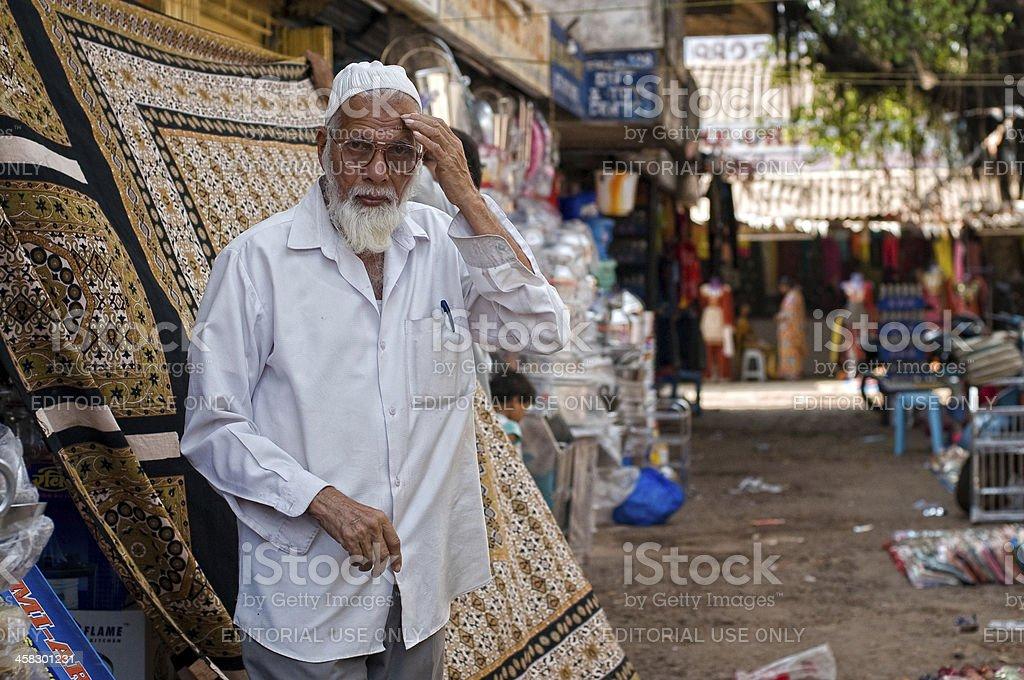 Indian man near his shop royalty-free stock photo