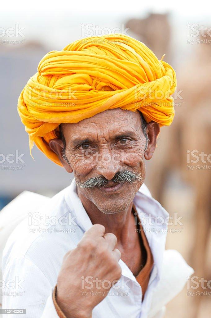Indian Man - Rajasthan royalty-free stock photo