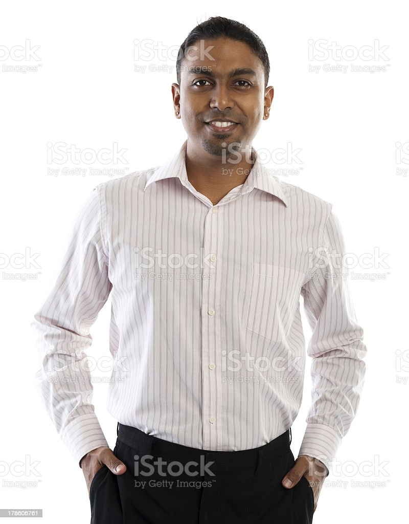 Indian man smiling. stock photo