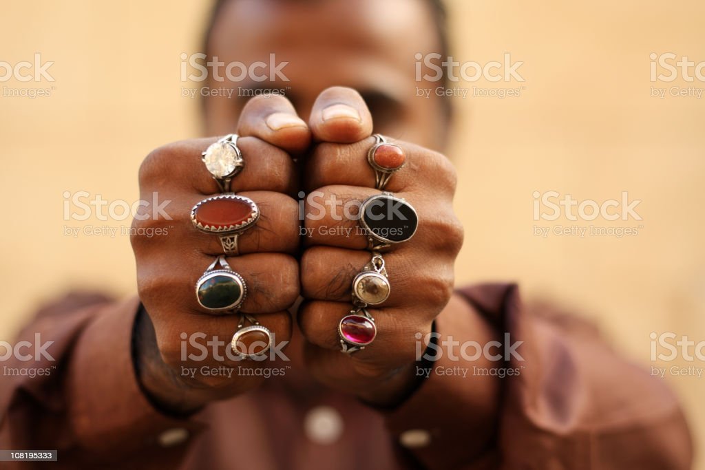 Semi precious stone Rings stock photo