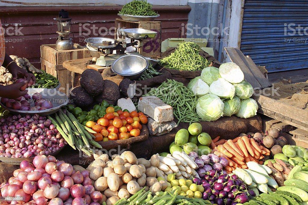 Indian marketplace royalty-free stock photo
