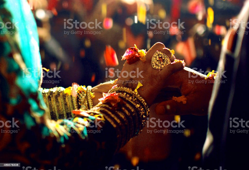 indian marriage stock photo
