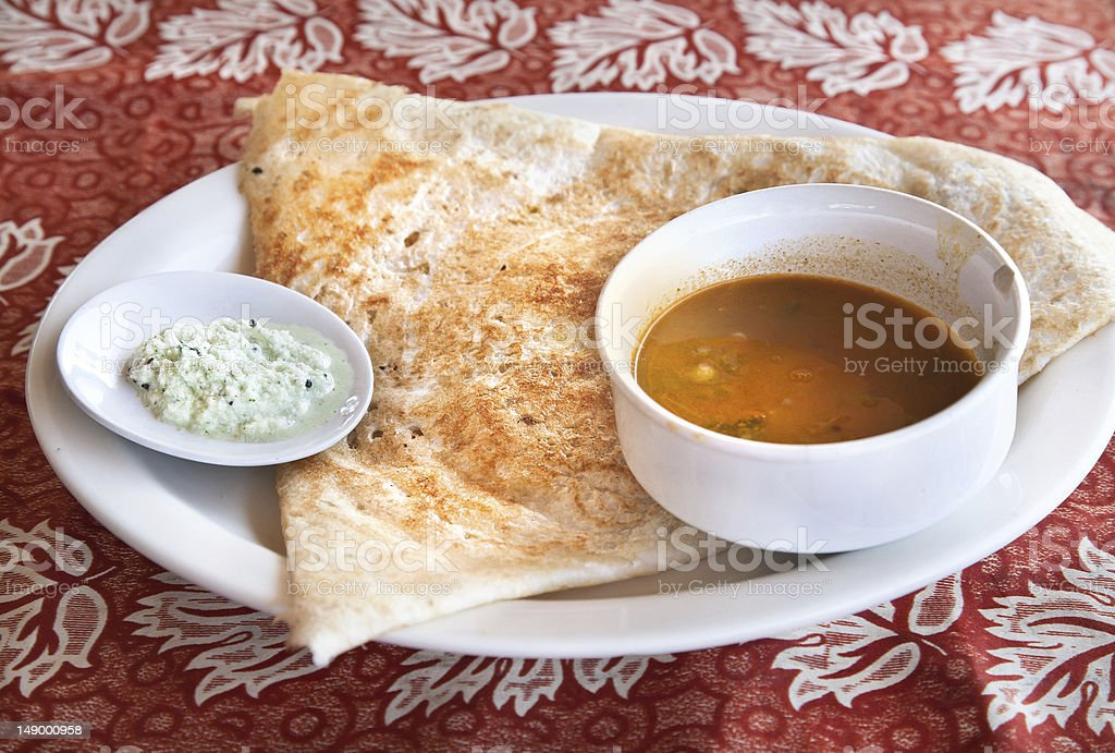 Indian masala dosa royalty-free stock photo