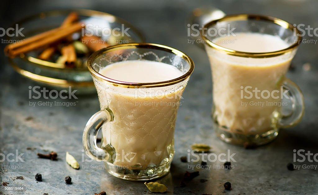 Indian masala tea stock photo