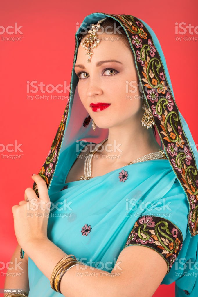 indian mature woman stock photo