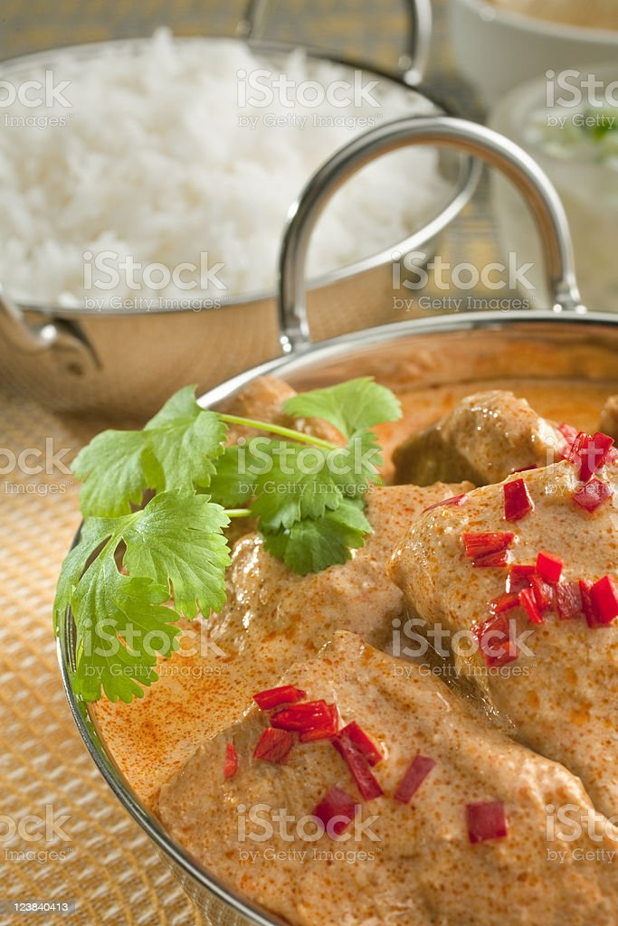 Indian Meal Balti Butter Chicken Curry stock photo