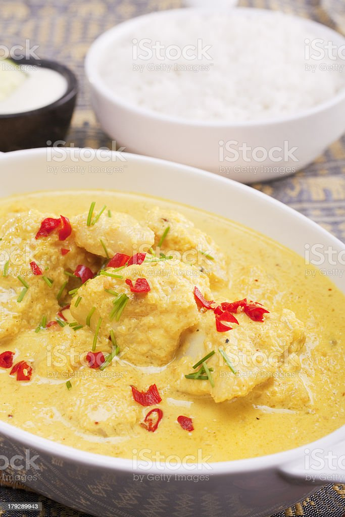Indian Meal Food Cuisine Coconut Fish Curry royalty-free stock photo