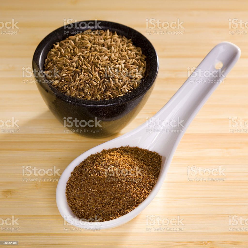 Indian Meal Food Cuisine Spice Fresh Toasted Cumin stock photo