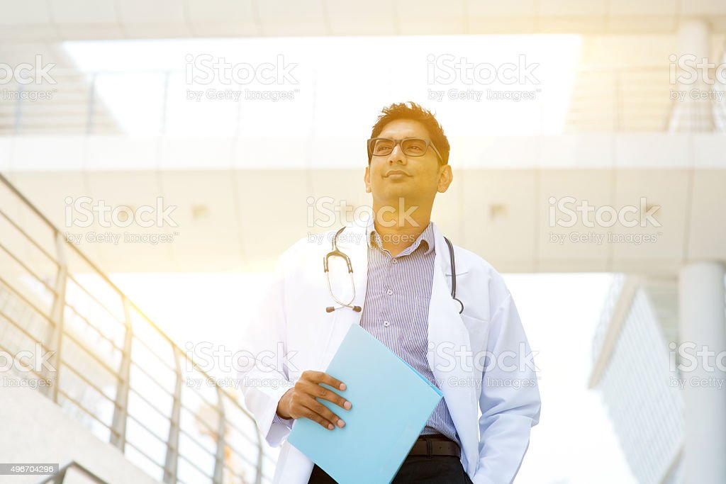 Indian medical doctor stock photo