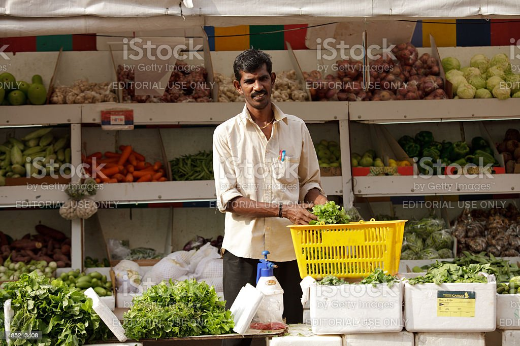 Indian merchant stock photo