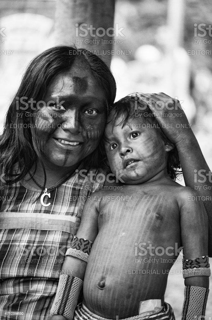 Indian Mother stock photo