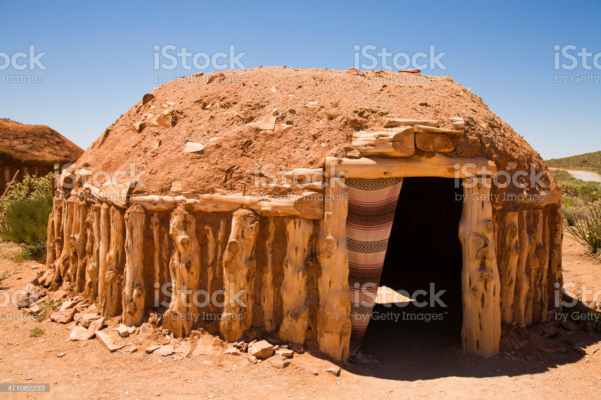 Indian Mud Hut royalty-free stock photo