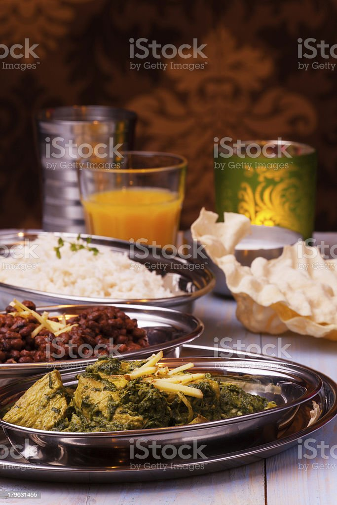 indian murgh palak royalty-free stock photo