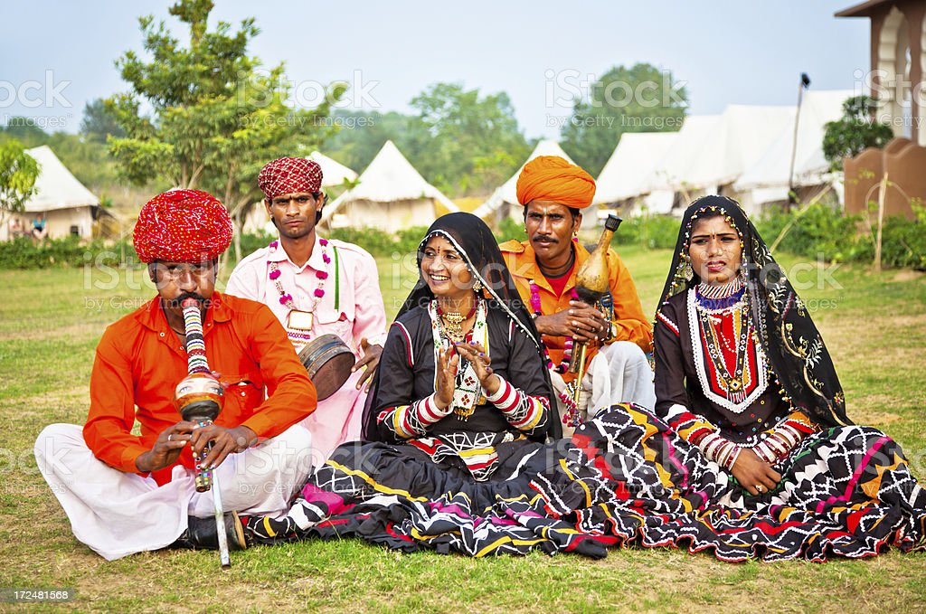 Indian Music Performance Group royalty-free stock photo