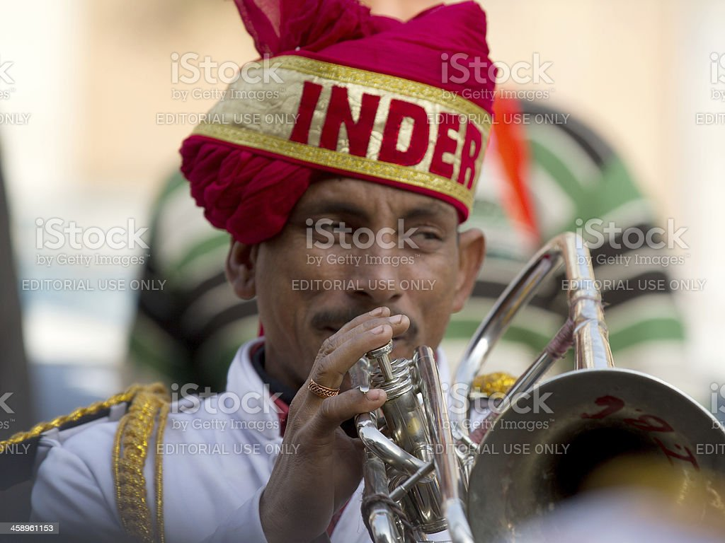 Indian musician in New Delhi, India royalty-free stock photo