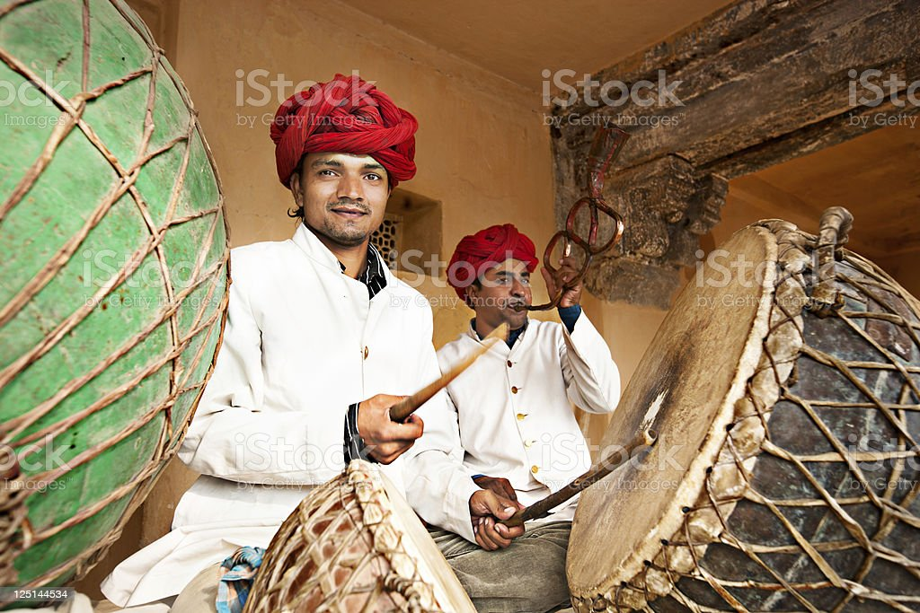 Indian musicians stock photo