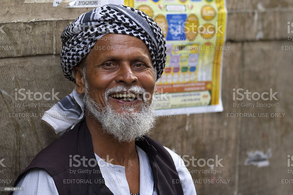 Indian Muslim man in New Delhi, India royalty-free stock photo