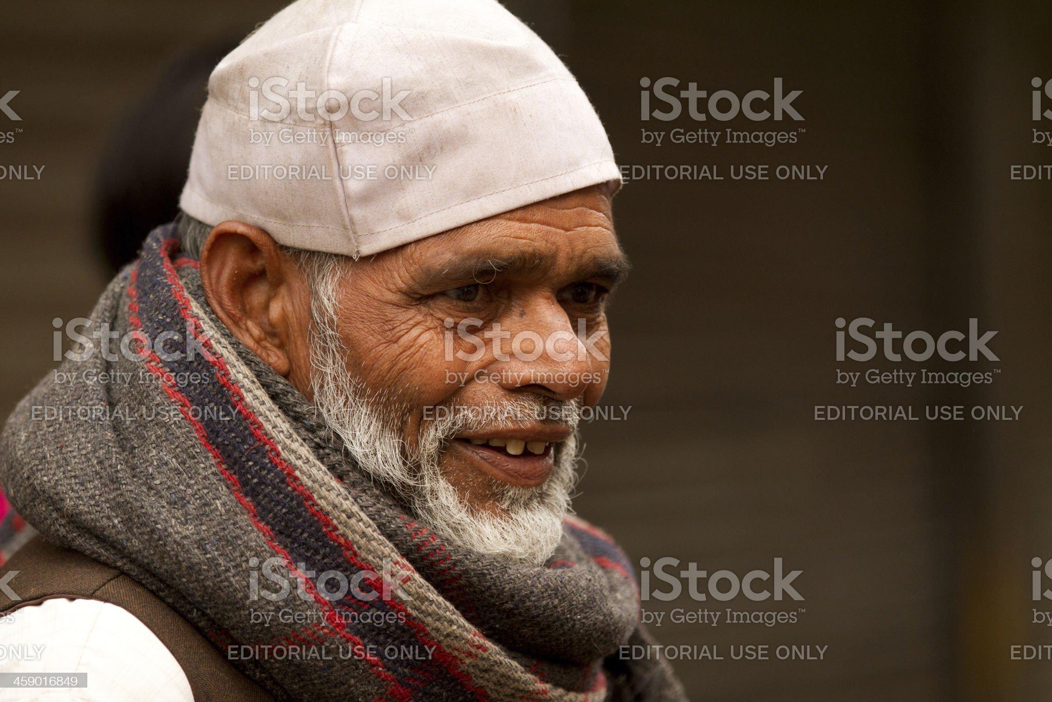 Indian Muslim man in New Delhi, India royalty-free stock photo