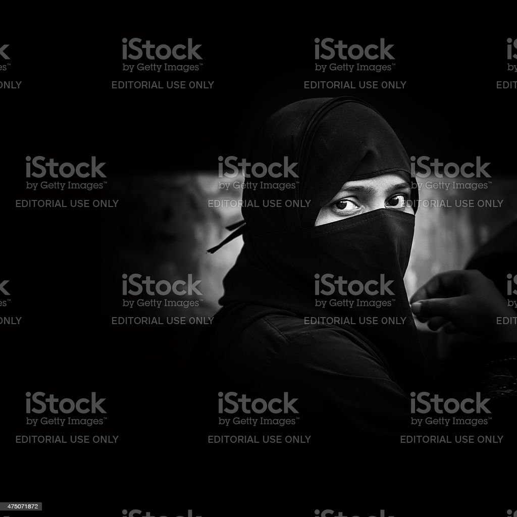 Indian Muslim woman stock photo