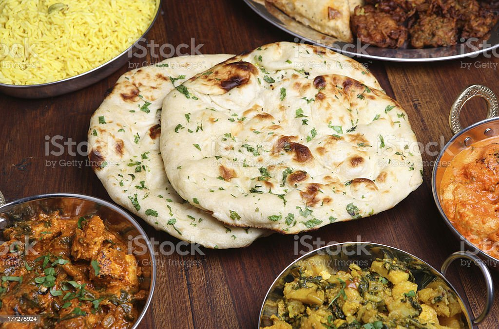 Indian Naan Bread stock photo