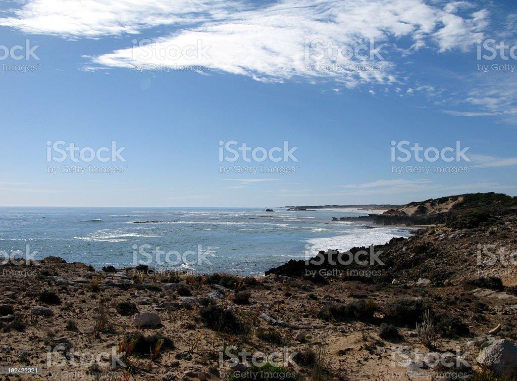 Indian ocean coast stock photo