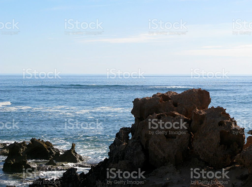Indian ocean coastine stock photo