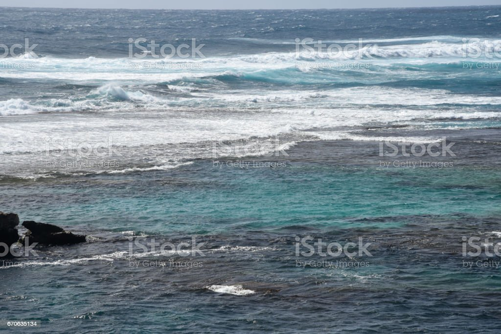 Indian Ocean Waves at Cathedral Rocks stock photo