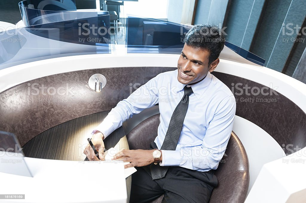Indian Office Worker royalty-free stock photo