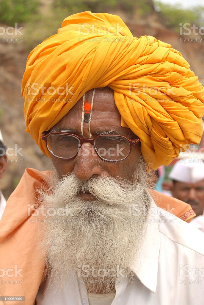 Indian Old Man stock photo