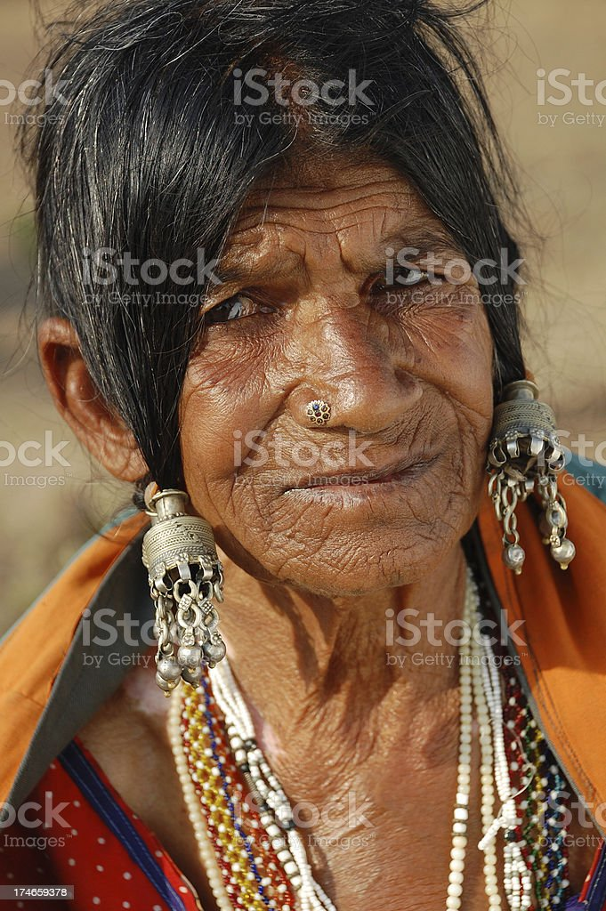 Indian Old Woman royalty-free stock photo