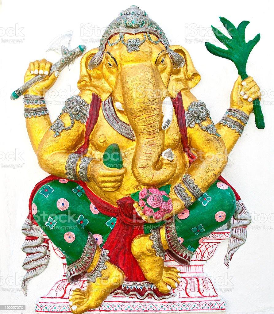 Indian or Hindu ganesha God Named Siddhi Ganapati royalty-free stock photo