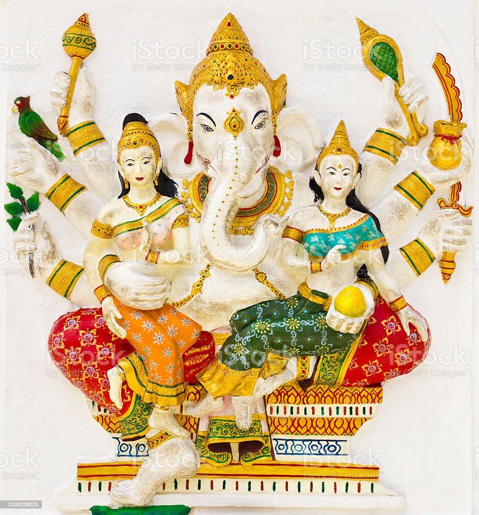 Indian or Hindu God Named Vijaya Ganapati royalty-free stock photo