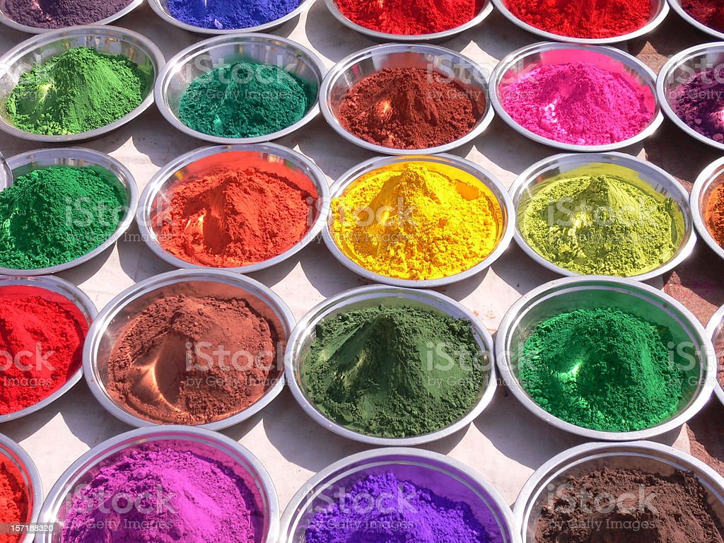 Indian Paint pigment royalty-free stock photo