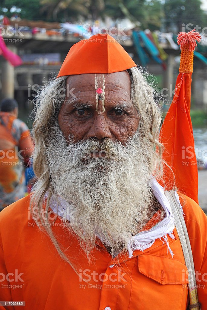 Indian Pandit stock photo