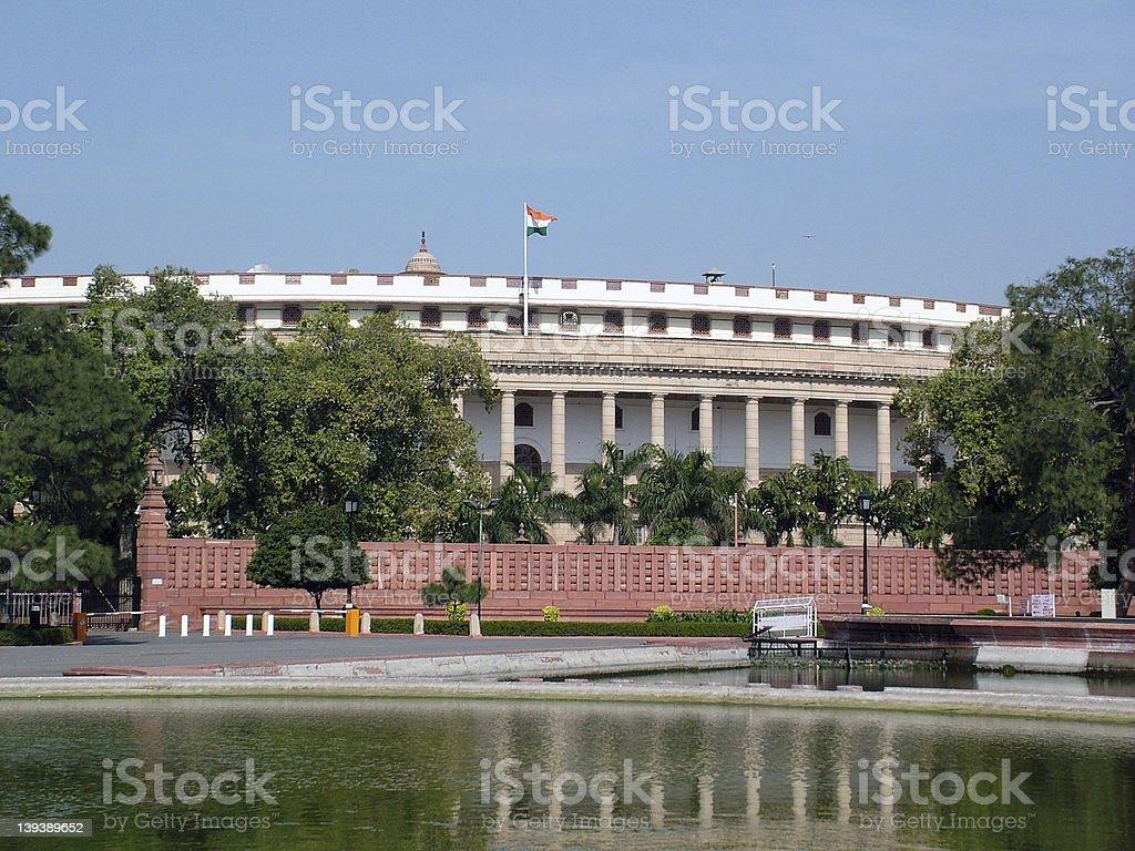 Indian Parliament House, New Delhi stock photo