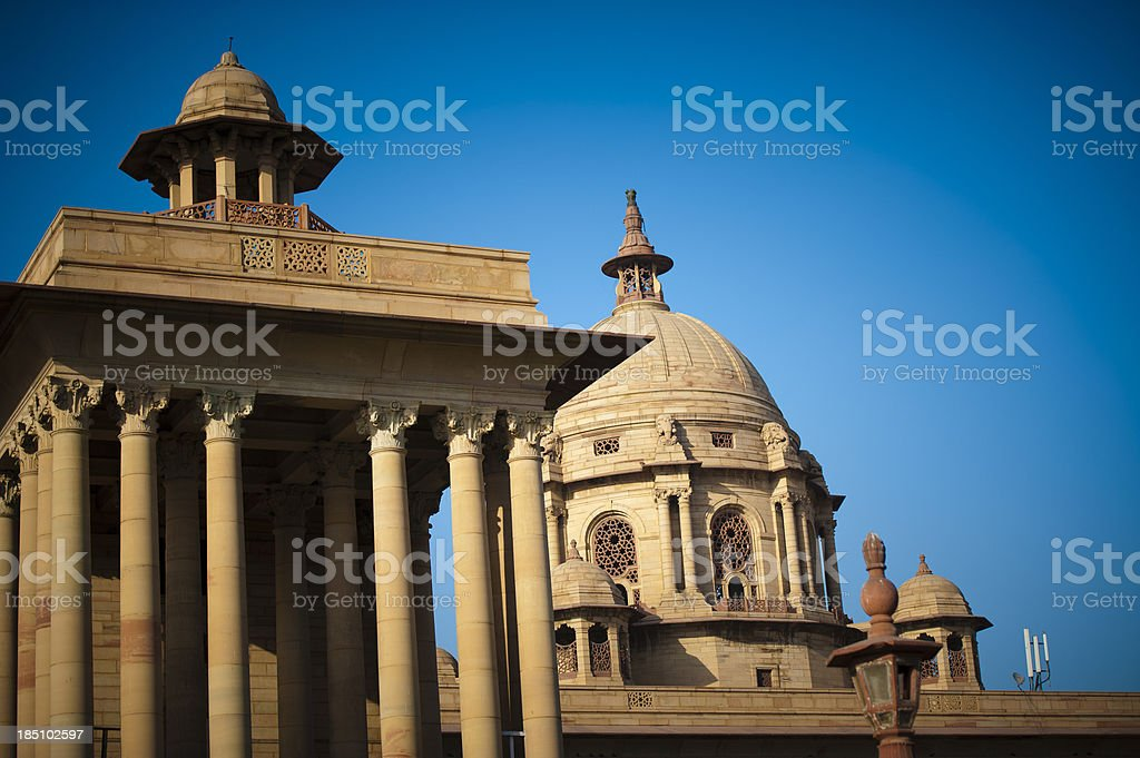 Indian Parliament in New Delhi royalty-free stock photo
