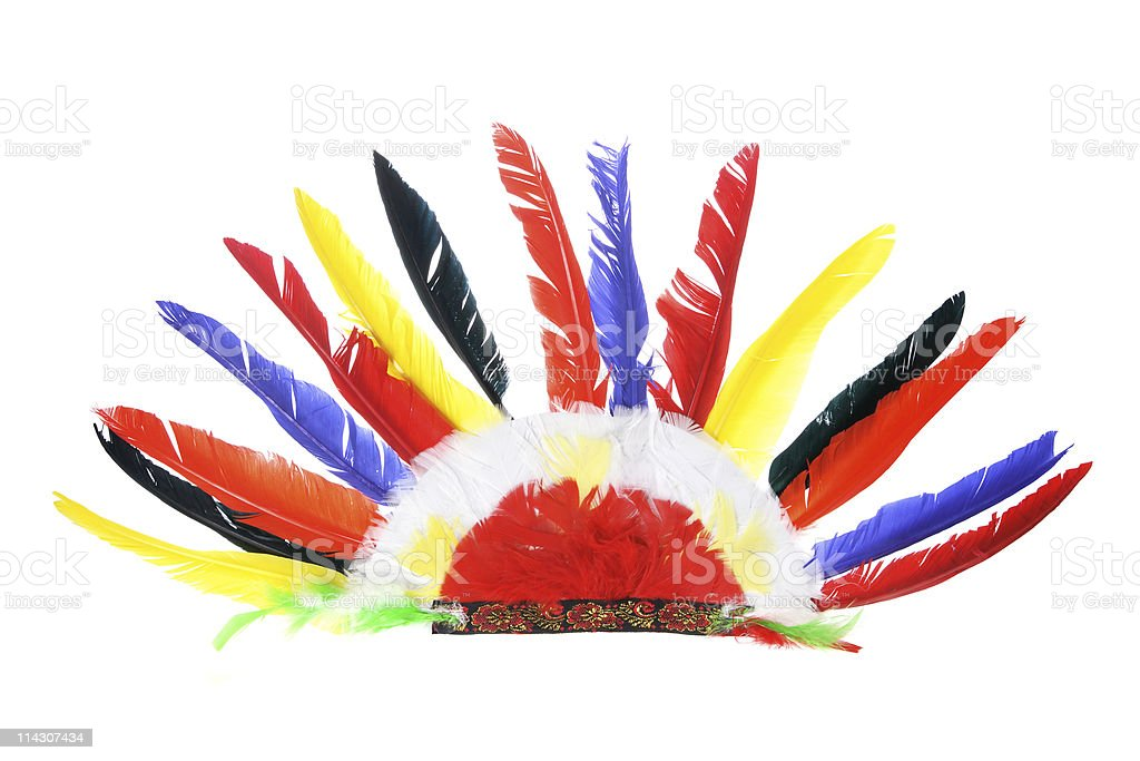 Red Indian Party Headgear stock photo