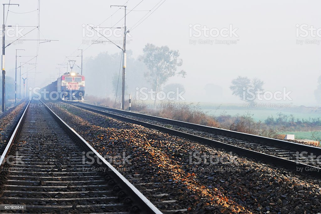 Indian Passenger Train stock photo